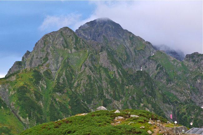 剱岳テントから