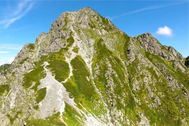 前剱岳の迫力