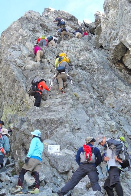 カニノタテバイ登り方