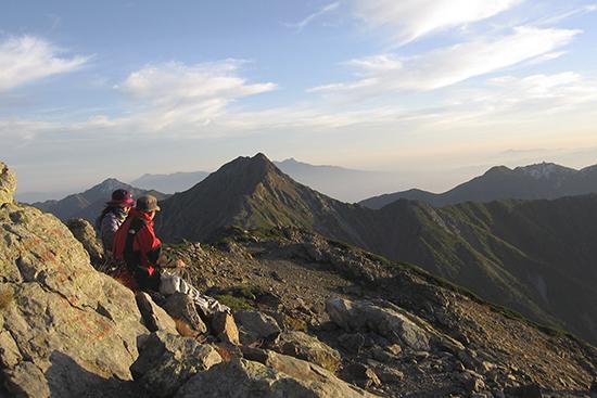 2013間ノ岳山頂から