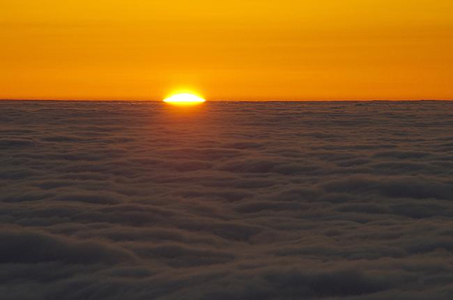 雲取山 日の出ご来光-2
