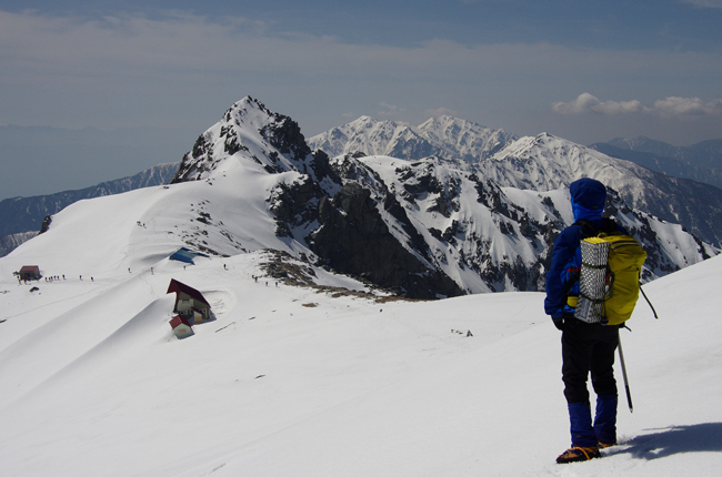 残雪の木曽駒ヶ岳 GW山行