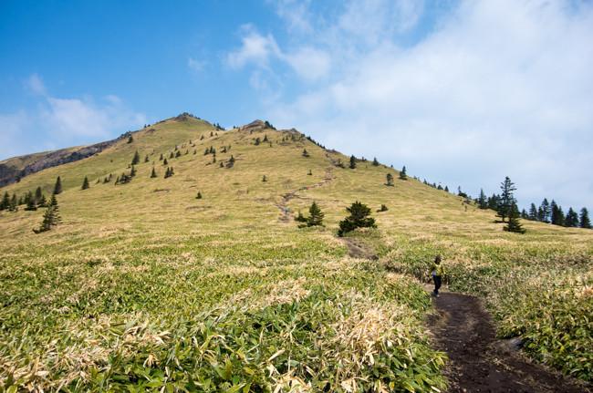根子岳〜四阿山 周回コース  5月の残雪登山