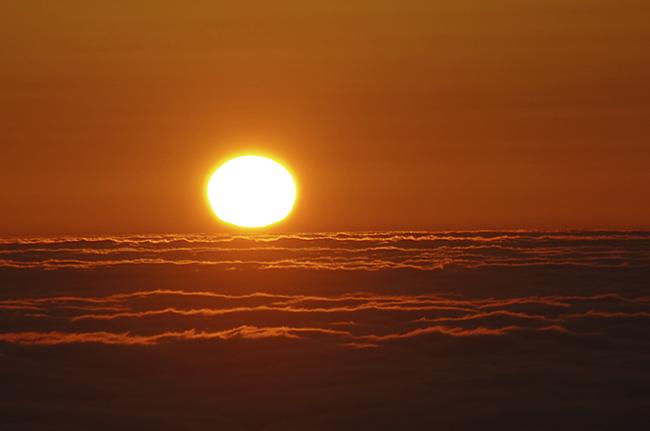 雲取山 日の出ご来光-3