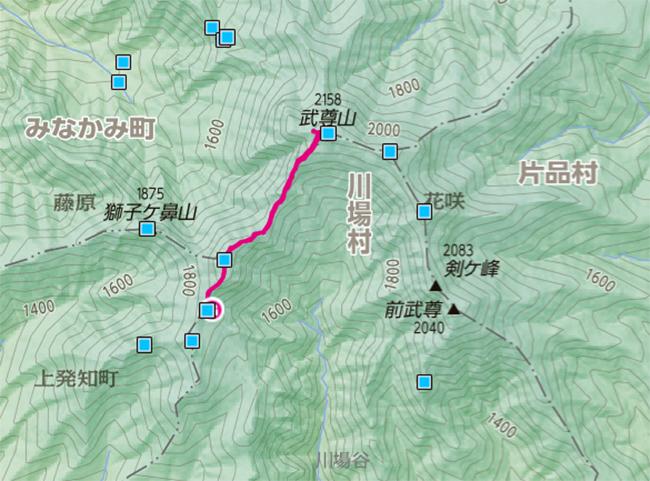 武尊山地図