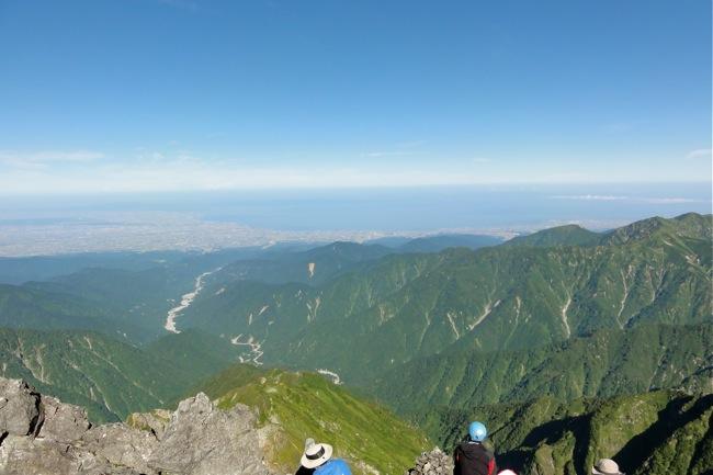 剱岳より富山湾