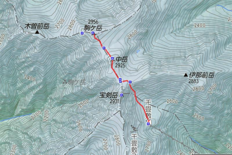 木曽駒MAP