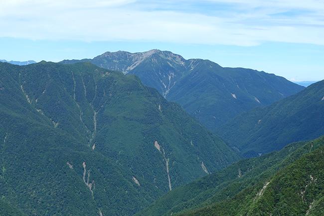 鳳凰三山から仙丈ヶ岳1507