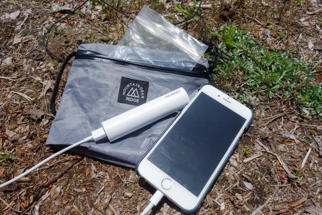 登山用モバイルバッテリー11