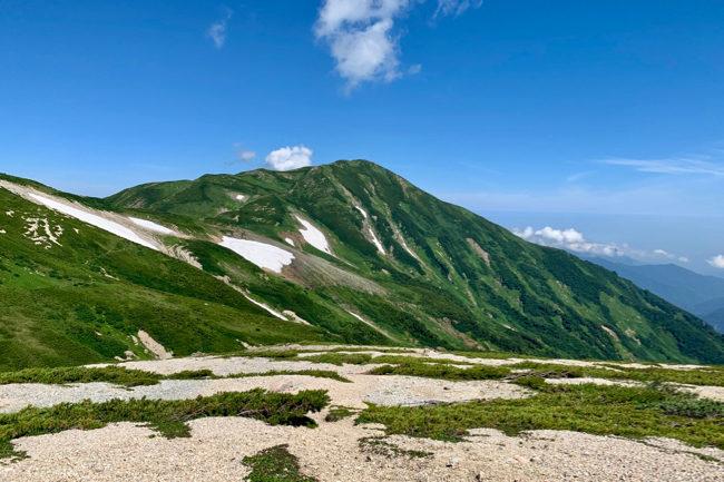 蓮華温泉〜朝日岳〜雪倉岳 テント泊 DAY2