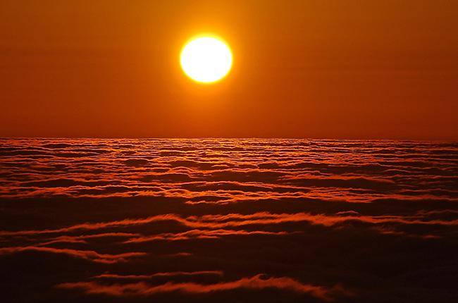 雲取山 日の出ご来光5
