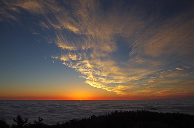 雲取山 日の出ご来光