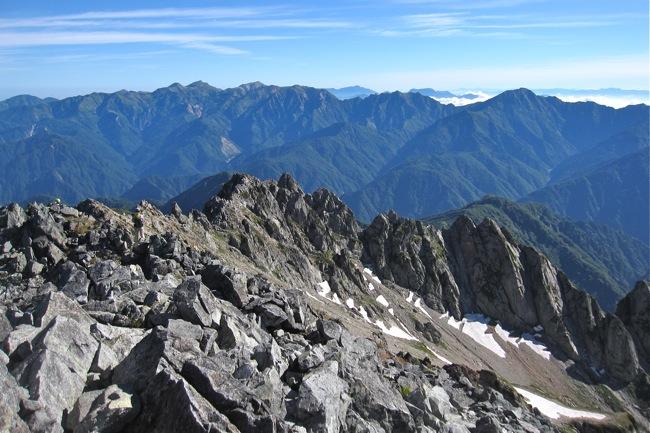 剱岳山頂の景色4