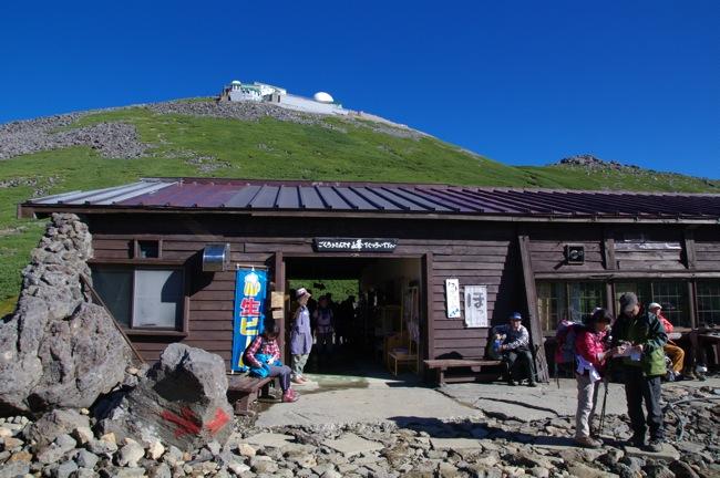 1210乗鞍岳肩の小屋