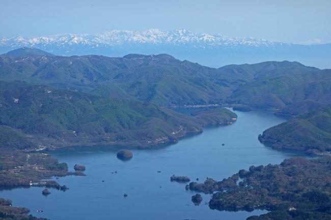 磐梯山から裏磐梯檜原湖1505