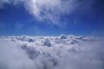 大空へ 谷川岳より