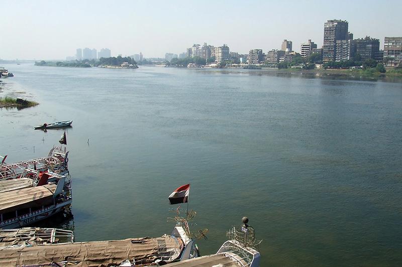 カイロ中心部を流れるナイル川