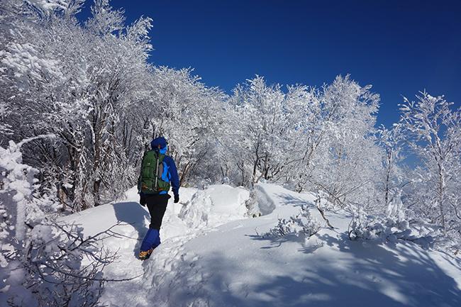 冬の赤城山 美しき霧氷トレイル!積雪の日帰り登山