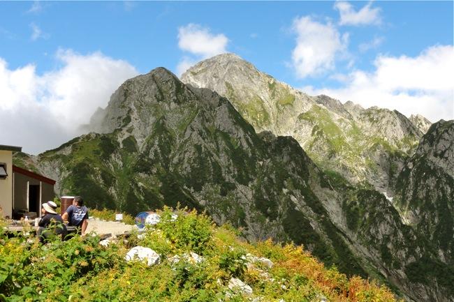 前剱岳と剱岳本峰