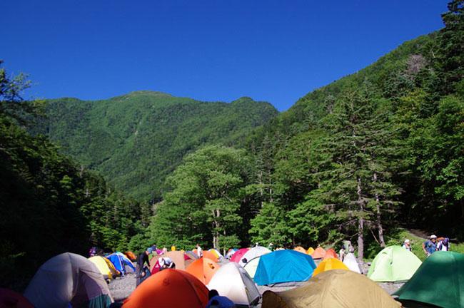 2011北沢峠テント場-2