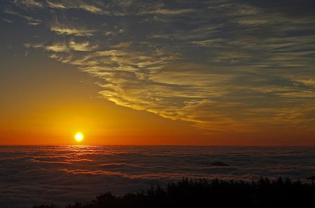 雲取山 日の出ご来光-4