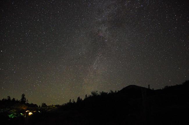 高谷池ヒュッテ星空1509−2