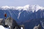 白根三山の遠望