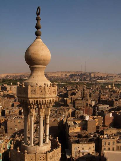 ミナレットの上から望むカイロ市街